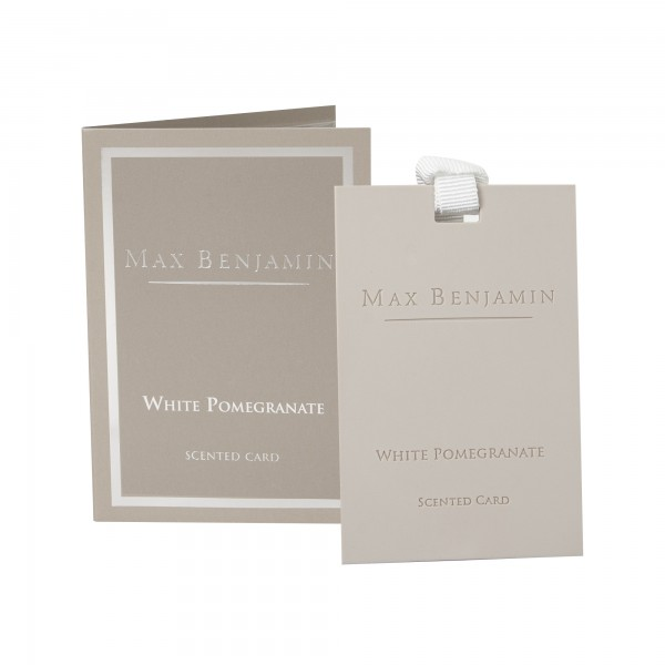 MAX BENJAMIN WHITE POMEGRANATE CARD