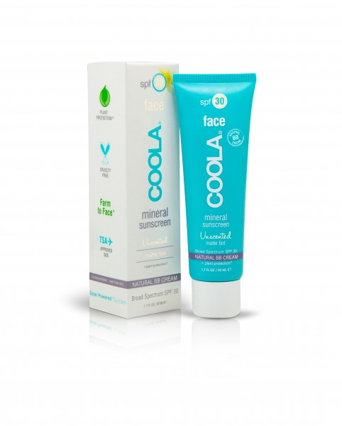 COOLA MINERAL FACE MATTE TINTED MOISTURIZER SPF 30 UNSCENTED 50ml