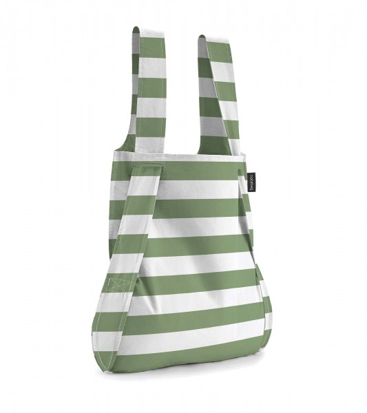 NOTABAG OLIVE STRIPES