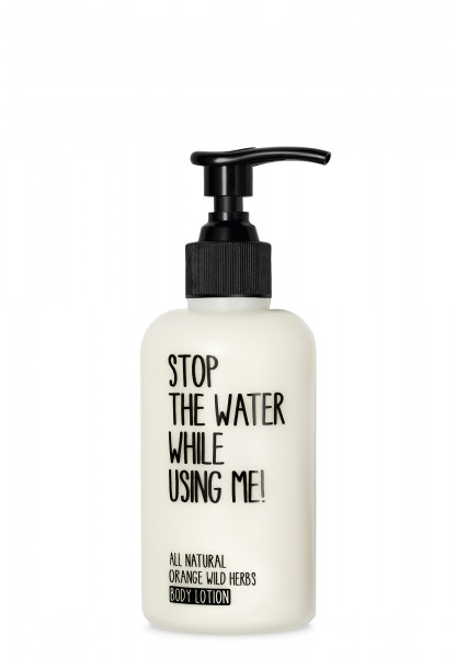 STOP THE WATER WHILE USING ME ORANGE WILD HERBS BODY LOTION 200ml