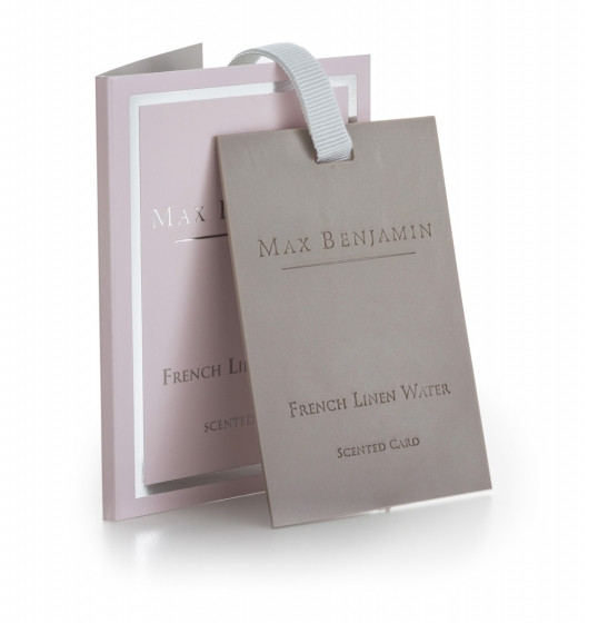 MAX BENJAMIN FRENCH LINEN WATER CARD